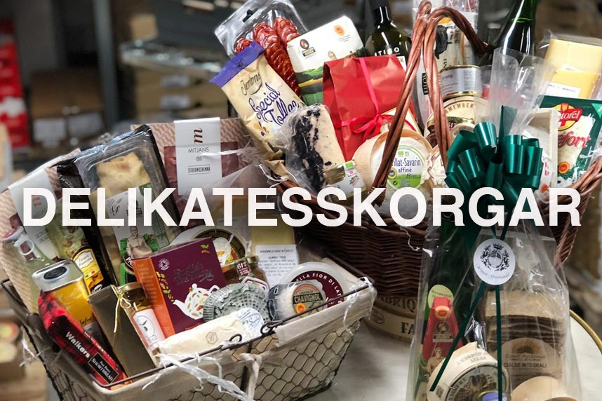Delikatesskorgar från Wijnjas på Godsmak.se